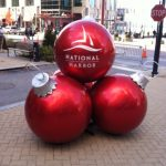 National Harbor Holiday Decor Ball Stack