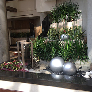 Hyatt Hotel After Interior plantscaping